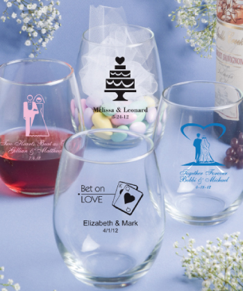 15 Ounce Stemless Wine Glasses wedding favors