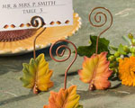 Leaf Design Place Card Holders cheap favors