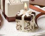 Ivory And Brown Gift Box Collection Candle Favor cheap favors
