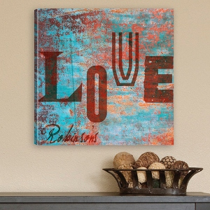 Personalized Graffiti Style Love Canvas Print wedding favors