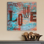 Personalized Graffiti Style Love Canvas Print cheap favors