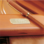 Personalized Genuine Rosewood Pen and Case cheap favors