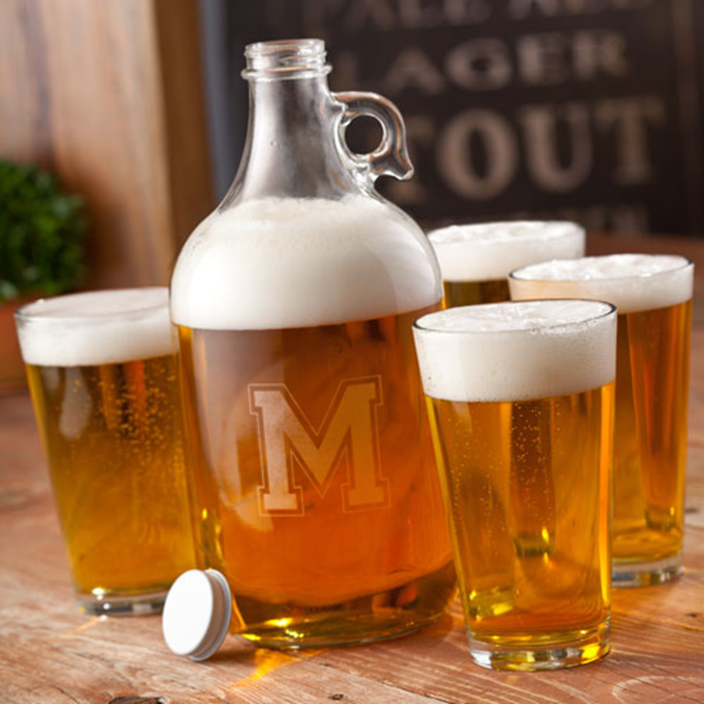 Personalized Beer Growler Set wedding favors