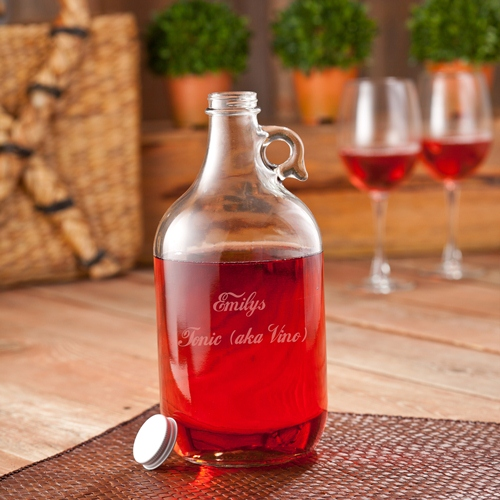 Personalized Wine Jug Set (includes 2 wine glasses) cheap favors