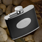 Personalized Stainless Steel Leather Flask cheap favors