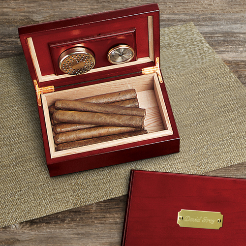 Personalized Cherry Wood Humidor wedding favors