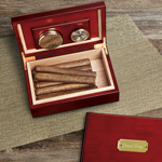 Personalized Cherry Wood Humidor cheap favors