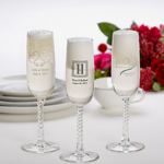 Printed Champagne Flutes cheap favors