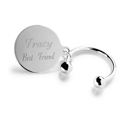 "Personalized ""Tiffany-Style"" Keychain wedding favors"