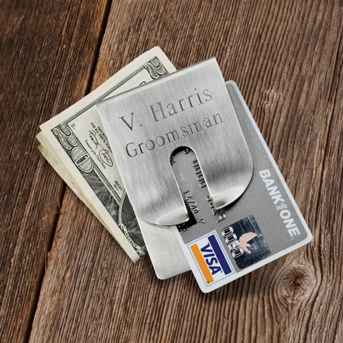 Harrison Clever Money Clip and Wallet wedding favors