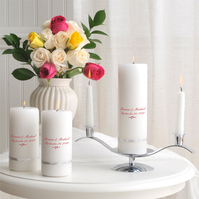 Deluxe Unity Candle Set wedding favors