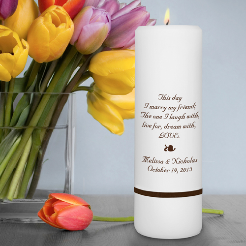 Unity Candle wedding favors