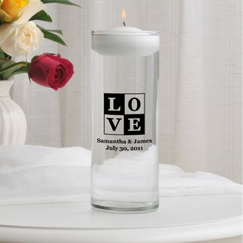 Floating Unity Candles wedding favors