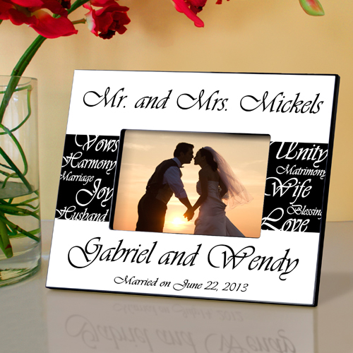 Mr. and Mrs. Personalized Wedding Frame wedding favors
