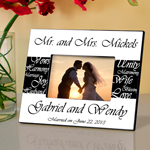 Mr. and Mrs. Personalized Wedding Frame cheap favors
