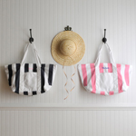 Personalized Candy Striped Beach Tote Bag cheap favors