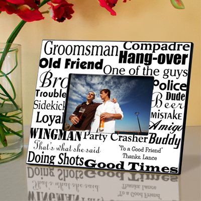 Personalized Groomsman Frame wedding favors