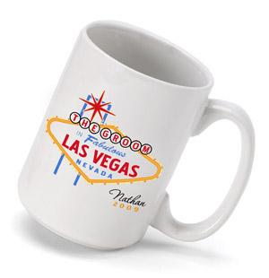 Personalized Wedding Favor Coffee Mugs : Personalized Vegas Wedding Party Coffee Mug wedding favors