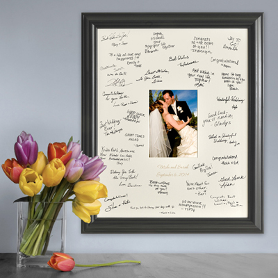 Personalized Laser Engraved Wedding Wishes Signature Frame wedding favors