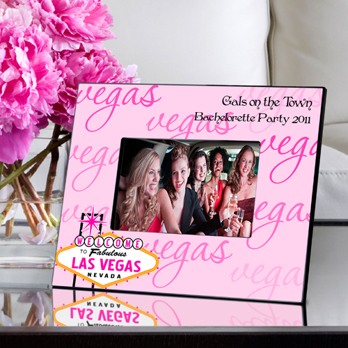 Personalized Gals Las Vegas Picture Frame wedding favors