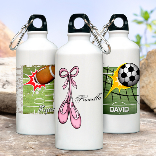 Personalized Kid's Sports Water Bottles wedding favors