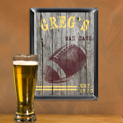 Personalized Traditional Sports Man Cave Pub Signs wedding favors