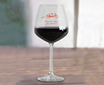 Personalized 18.25 oz. Vina Diamond Balloon Wine Glass, Create Your Own Wedding Favor Promotional Product cheap favors