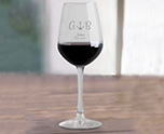 Laser Engraved 12.5 oz. Vina Tall Wine Glass Wedding Favor, Custom Designs for Party and Promotion cheap favors
