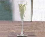 Laser Engraved 18 oz. Vina Trumpet Flute Glass Bridal Shower Party Favor, Elegant Etched Toasting Flutes cheap favors