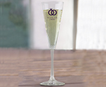 Personalized 18 oz. Vina Trumpet Flute Glass Favor, Customizable Bridal Glassware cheap favors