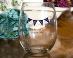 Personalized Stemless Wine Glasses Favor cheap favors