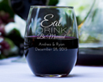 Engraved 9oz Stemless Wine Glass cheap favors