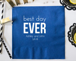 Best Day Ever Personalized Napkin-Beverage Napkin cheap favors