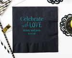 Personalized Wedding Napkins- Beverage Napkin cheap favors