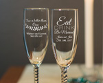 Engraved Champagne Flute with Twisted Stem cheap favors