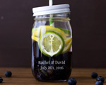 Engraved Mason Jar cheap favors