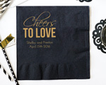 Cheers To Love Design Personalized Napkin- Beverage Napkin cheap favors