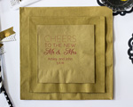 Cheers to Mr and Mrs Design Personalized Napkin-Beverage Napkin cheap favors