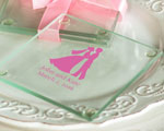 Personalized Glass Coasters  cheap favors