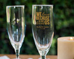 Personalized Champagne Flute cheap favors