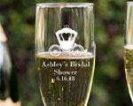 Personalized Champagne Flute With Twisted Stem cheap favors