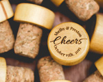 Cheers Engraved Wine Stopper cheap favors