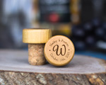 Personalized Wine Stopper -Bride and Groom Monogram cheap favors