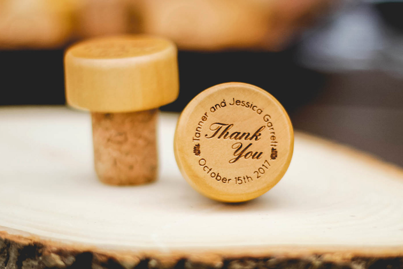 Thank You Personalized Wine Stopper  wedding favors