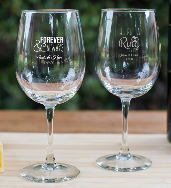 Personalized Wine Goblet Favors 12 Oz. wedding favors