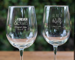 Personalized Wine Goblet Favors 12 Oz. cheap favors