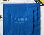 Lets Celebrate Personalized Wedding Napkin-Beverage Napkin cheap favors