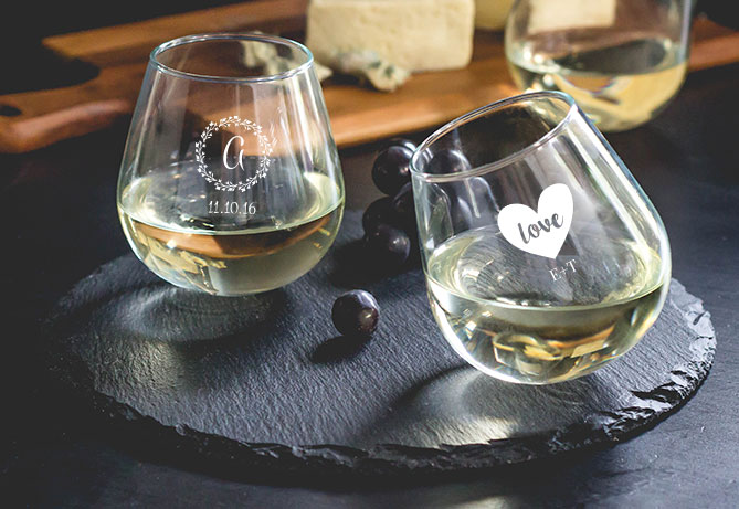 Personalized Rocking Wine Glass Wedding Favor
