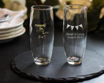 Personalized Stemless Champagne Glass Wedding Favors cheap favors