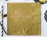 This is Forever Personalized Napking-Beverage Napkin cheap favors